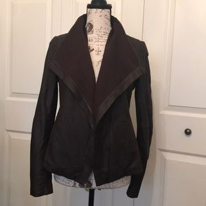 T Tahari merlot deluxe leather jacket. Sz S. NWT